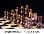 playing wooden chess pieces ... | Shutterstock . vector #404155726