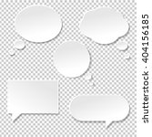 speech bubble big set  isolated ... | Shutterstock .eps vector #404156185