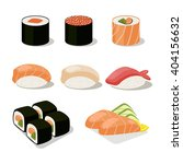 asia food icon set with sushi... | Shutterstock .eps vector #404156632