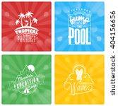 set of summer holidays design... | Shutterstock .eps vector #404156656