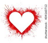 heart shaped frame made of red... | Shutterstock .eps vector #404160712