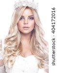 beautiful blondie girl model in ... | Shutterstock . vector #404172016