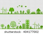 eco borders  isolated on... | Shutterstock .eps vector #404177002