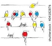 Birds On Wire Vector  Various...