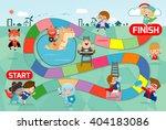 board game with superhero kids  ... | Shutterstock .eps vector #404183086