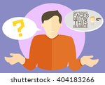 vector man with question mark.... | Shutterstock .eps vector #404183266