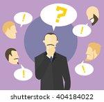 making decision concept. boss... | Shutterstock .eps vector #404184022