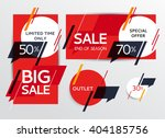 sale banners set. sale and... | Shutterstock .eps vector #404185756