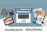 business  technology and... | Shutterstock .eps vector #404190442