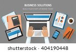 business  technology and... | Shutterstock .eps vector #404190448