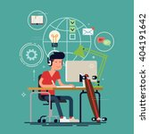 creative work concept vector... | Shutterstock .eps vector #404191642