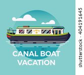 Canal Boat Vacation Concept...