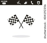 racing flag icon | Shutterstock .eps vector #404192356