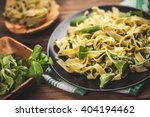 Cooked Tagliatelle Pasta With...