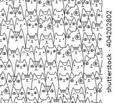 seamless pattern with funny... | Shutterstock .eps vector #404202802
