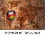 Heart With National Flag Of...