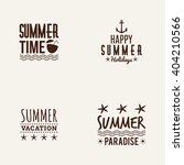summer vacation label | Shutterstock .eps vector #404210566
