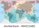 tectonic plates of planet earth ... | Shutterstock .eps vector #404211682