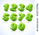 set of vector numbers  from 1... | Shutterstock .eps vector #404213986