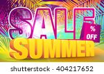 sale. summer discount poster. | Shutterstock .eps vector #404217652