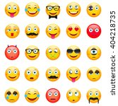 emoticons  set. emoticons... | Shutterstock .eps vector #404218735