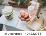 rose and ivory macaroons as a...   Shutterstock . vector #404222755