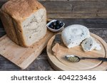 homemade cheese with bread and... | Shutterstock . vector #404223436