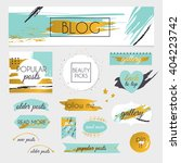 a set of blog design elements... | Shutterstock .eps vector #404223742