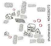 vector pattern with village... | Shutterstock .eps vector #404228272