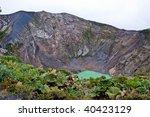 Vulcano Irazu With Green Lake...