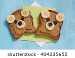 funny bear face sandwich with... | Shutterstock . vector #404235652
