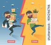 monday vs friday concept.... | Shutterstock .eps vector #404246746
