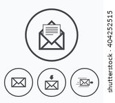 mail envelope icons. message... | Shutterstock .eps vector #404252515