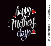 happy mother's lettering... | Shutterstock .eps vector #404258122