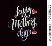 happy mother's lettering... | Shutterstock .eps vector #404258122
