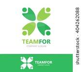 vector people logo design...   Shutterstock .eps vector #404262088