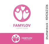 vector family logo design... | Shutterstock .eps vector #404262106