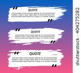 vector quote boxes set. painted ... | Shutterstock .eps vector #404275282