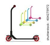 kid scooter. vector illustration | Shutterstock .eps vector #404275972