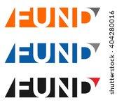 fund logotype vector.   Shutterstock .eps vector #404280016