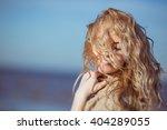 a portrait of a beautiful fair... | Shutterstock . vector #404289055