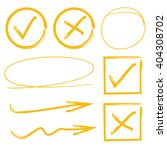 tick mark  vector highlighter... | Shutterstock .eps vector #404308702