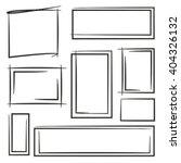 hand drawn rectangle frames ... | Shutterstock .eps vector #404326132