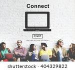 connect online internet social... | Shutterstock . vector #404329822