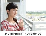 woman in pajama   Shutterstock . vector #404338408