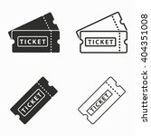 ticket    vector icons set.... | Shutterstock .eps vector #404351008
