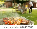 barbecue party   delicious food ... | Shutterstock . vector #404352805