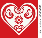 abstract heart shape  vector... | Shutterstock .eps vector #40436101