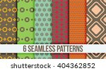 six seamless geometric patterns   Shutterstock .eps vector #404362852