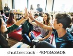 classmate classroom sharing... | Shutterstock . vector #404363608
